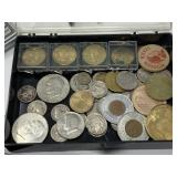 LARGE LOT OF MISC COINS / IKE/ BUFFALOS/ TOKENS