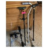 LOT OF MOBILITY ITEMS CANES/ PEDAL EXERCISER