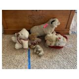 LOT OF STUFFED ANIMALS SOME VTG / HARRODS