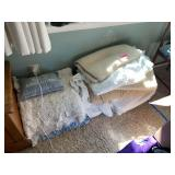 LARGE LOT OF BLANKETS / MISC