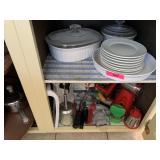 CONTENTS OF CABINET / DISHES MORE
