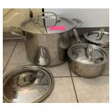 CUISINART LOT OF POTS AND PANS