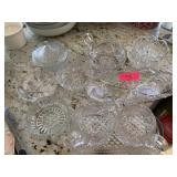 LARGE LOT OF CLEAR GLASSWARE