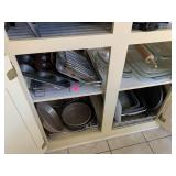 CONTENTS OF CABINET / PANS / BAKEWARE