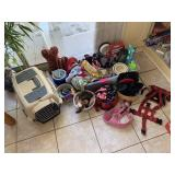 LARGE LOT OF MISC DOG TOYS