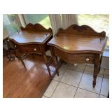 2PC PULASKI END TABLES (NEEDS KNOB)