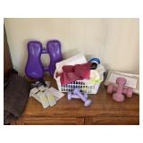 LOT OF WEIGHTS WORKOUT EQUIPMENT