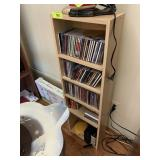 BLONDE WOOD SHELF W CDS