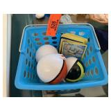 LOT OF POKEMON BALLS / CARDS IN BASKET