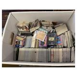LARGE BOX OF SPORTS CARDS/ WRESTLING/ MORE