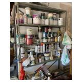CONTENTS OF THE SHELF / PAINTS (NOT SHELF ITSELF)