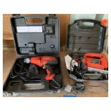 2PC POWER TOOL LOT JIGSAW/ DRILL