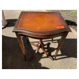 INTERESTING PULL OUT DUNCAN PHYFE END TABLE