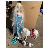 LARGE ELSA DOLL AND MISC