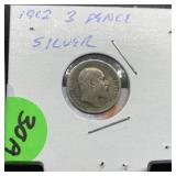 1902 3 PENCE SILVER