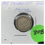 1918 CANADIAN SILVER DIME
