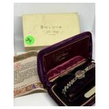 VTG BULOVA WATCH W BOX AND PAPERS