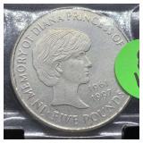1997 COMM 5 POUND PRINCESS DI COIN