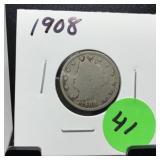 1908 LIBERTY V NICKEL COIN