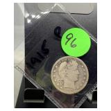 1915 BARBER SILVER QUARTER COIN