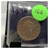 1846 LARGE CENT COIN