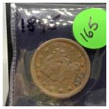 1845 LARGE CENT COIN
