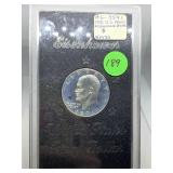 1971 ISILVER PROOF IKE DOLLAR COIN