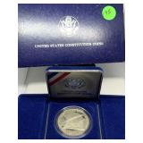 1987 US SILVER CONSTITUTION SILVER DOLLAR COIN