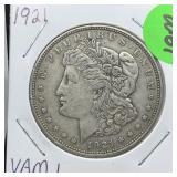 1921 VAM 1 MORGAN SILVER DOLLAR