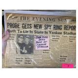 THE EVENING SUN VTG NEWSPAPER/ BABE RUTH DEATH