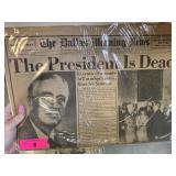 VTG DALLAS MORNING NEWSPAPER FDR DEAD