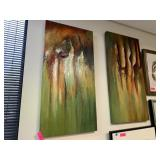 2PC ORIGINAL ABSTRACT PAINTINGS