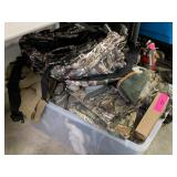 LARGE LOT OF CAMOUFLAGE AND HUNTING SUPPLY