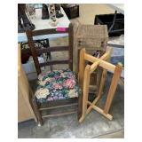 CHAIR/ STAND/ PLANTER STAND LOT