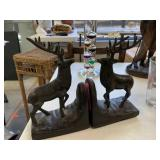 METAL STAG DECOR BOOKENDS