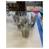 6PC DUCK THEMED BEER GLASSES