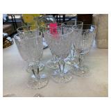 6PC CRYSTAL GLASSES
