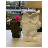 2PC OWL THEMED VASES