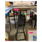 INDUSTRIAL STYLE REBAR STAND W WOOD TOP