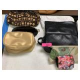 LOT OF COSMETIC BAGS / MISC