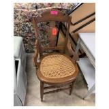 ANTIQUE EASTLAKE CHAIR W CANE SEAT