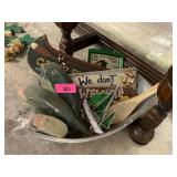 LARGE LOT OF MISC FISH DECOR / SIGNS