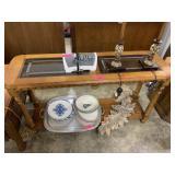 WOOD & GLASS SOFA TABLE