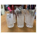 6PC CZECH GLASS TUMBLERS