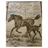 LARGE IBENA HORSE THEMED PICTORIAL BLANKET