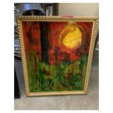 ORIGINAL ABSTRACT PAINTING CANT READ THE SIGNATURE