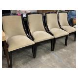 4PC SLOPED BACK DINING CHAIRS