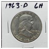 1963-D FRANKLIN SILVER HALF DOLLAR