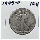 1945-D WALKING LIBERTY SILVER HALF DOLLAR