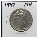 WALKING LIBERTY SILVER HALF DOLLAR 1947